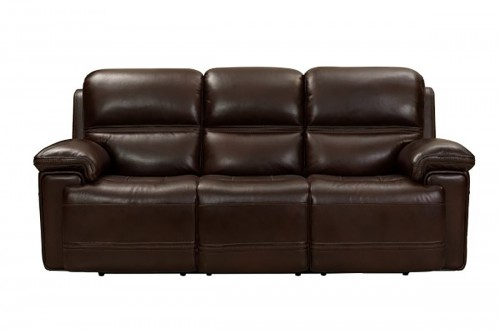 Sedrick Power Reclining Sofa with Power Head Rests - El Paso Walnut/Leather Match