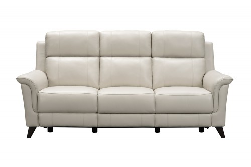 Kester Power Reclining Sofa with Power Head Rests - Laurel Cream/Leather match