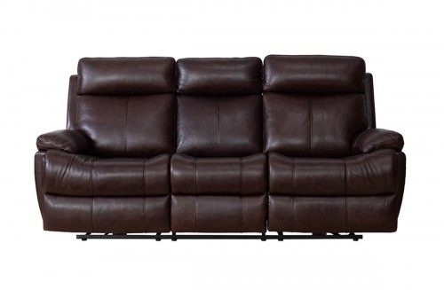 Bryce Power Reclining Sofa with Power Head Rests and Lumbar - Ryegate Fudge/Leather Match