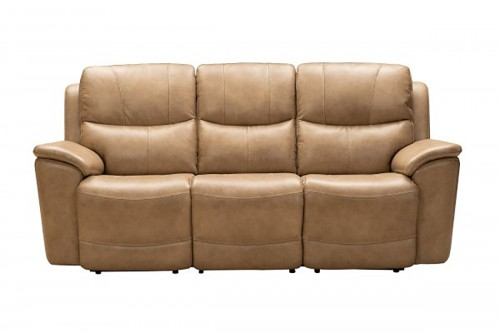 Kaden Power Reclining Sofa with Power Head Rests and Lumbar - Elliott Taupe/Leather Match
