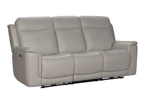 Burbank Power Reclining Sofa with Power Head Rests and Lumbar - Laurel Cream/Leather match
