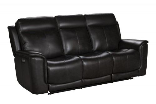 Burbank Power Reclining Sofa with Power Head Rests and Lumbar - Matteo Smokey Gray/Leather match