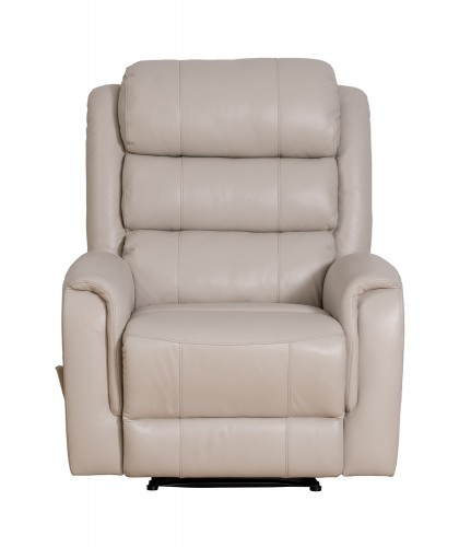 Bradley Big and Tall Recliner Chair - Lux Cream/Leather Match