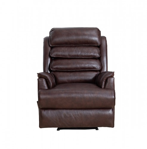 Gatlin Big and Tall Recliner Chair - Ryegate Brownstone/Leather Match