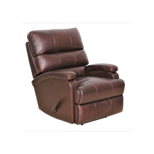 Detrick Rocker Recliner Chair - Ryegate Brown/Leather Match