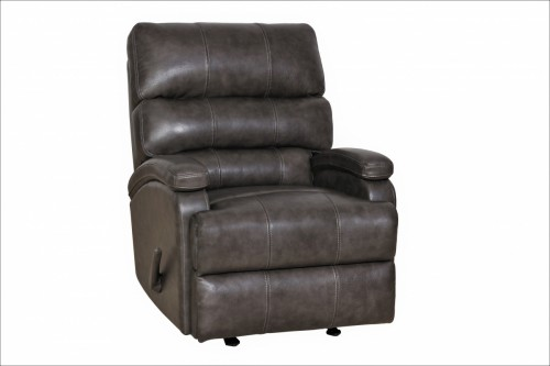 Detrick Rocker Recliner Chair - Ryegate Grey/Leather Match