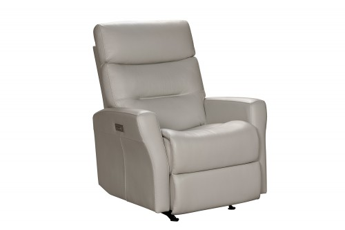 Donavan Power Rocker Recliner Chair with Power Head Rest and Lumbar - Laurel Cream/Leather match