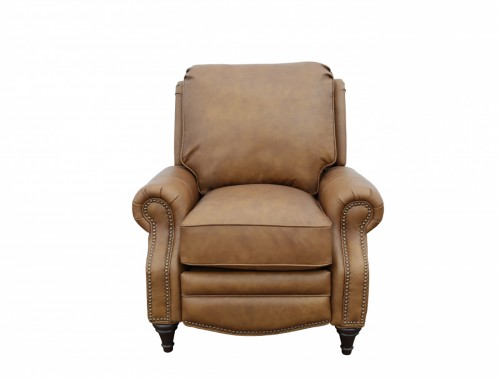 Avery Recliner Chair - Rustic Bourbon/All Top Rain Leather