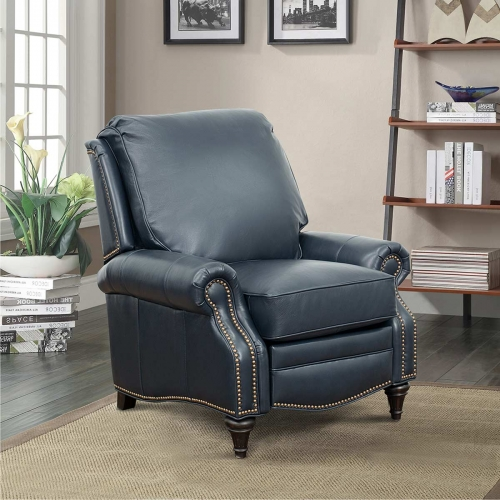 Avery Recliner Chair - Shoreham Blue/All Leather