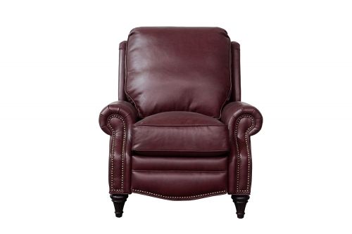 Avery Recliner Chair - Shoreham Wine/All Leather
