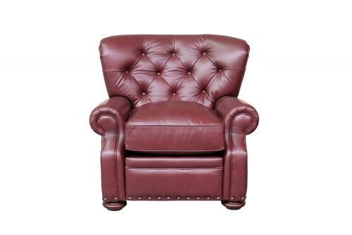Sinclair Recliner Chair - Shoreham Wine/All Leather