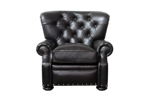 Sinclair Recliner Chair - Shoreham Fudge/All Leather