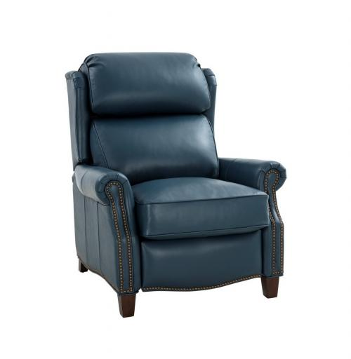 Meade Recliner Chair - Prestin Yale Blue/All Leather