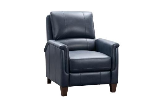Quinn Recliner Chair - Barone Navy Blue/All Leather