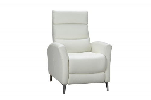 Zane Recliner Chair - Enzo Winter White/Leather Match