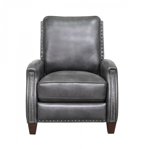 Melrose Recliner Chair - Wrenn Gray/all leather