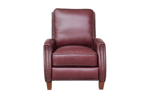 Melrose Recliner Chair - Shoreham Wine/All Leather