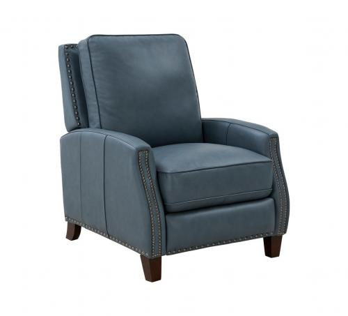 Melrose Recliner Chair - Corbett Steel Gray/All Leather