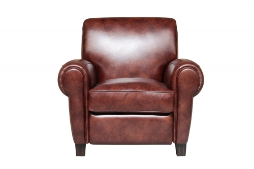 Edwin Recliner Chair - Wenlock Fudge/All Leather