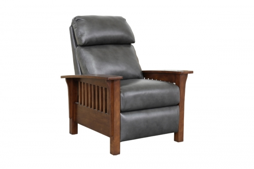 Mission Recliner Chair - Wrenn Gray/all leather
