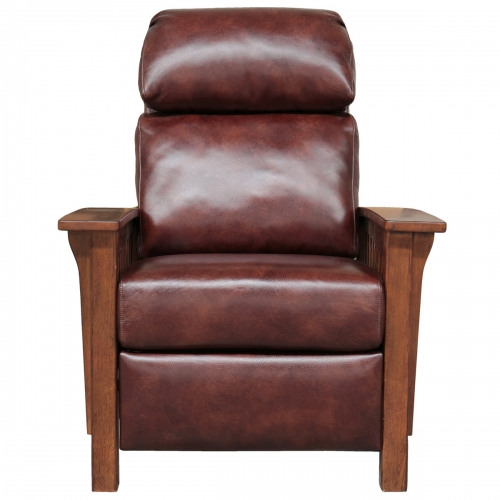 Mission Recliner Chair - Wenlock Fudge/All Leather