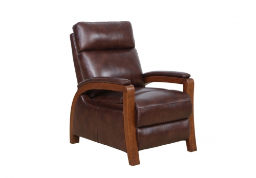 Ryder Recliner Chair - Ryegate Fudge/leather match