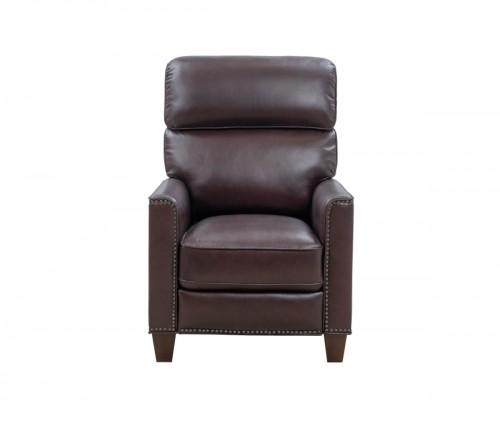 Sheffield Recliner Chair - Henderson Burgundy/Leather Match