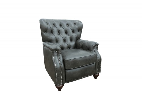 Lombard Recliner Chair - Ashford Graphite/All Leather