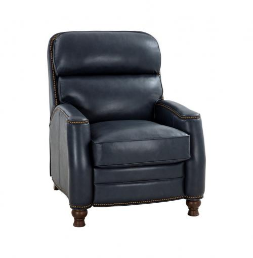Townsend Recliner Chair - Barone Navy Blue/All Leather