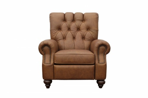 Phoenix Recliner Chair - Rustic Bourbon/All Top Rain Leather