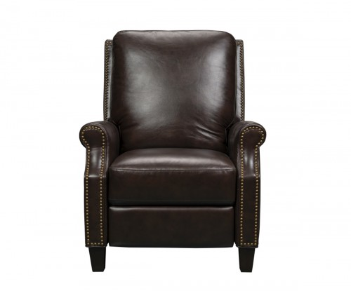 Klein Recliner Chair - Halsey Chocolate/Leather Match