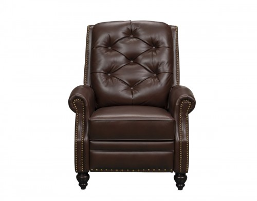 Kerry Recliner Chair - Ashmount Bordeaux/Leather Match
