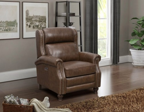 Montview Recliner Chair - Wenlock Double Chocolate/All Leather