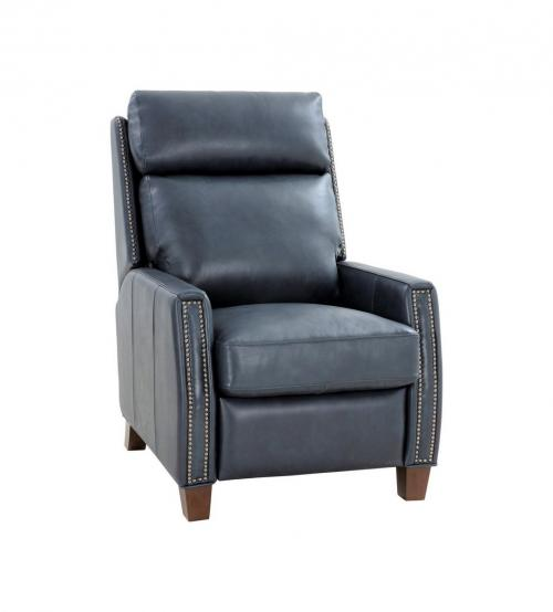 Anaheim Big and Tall Recliner Chair - Barone Navy Blue/All Leather