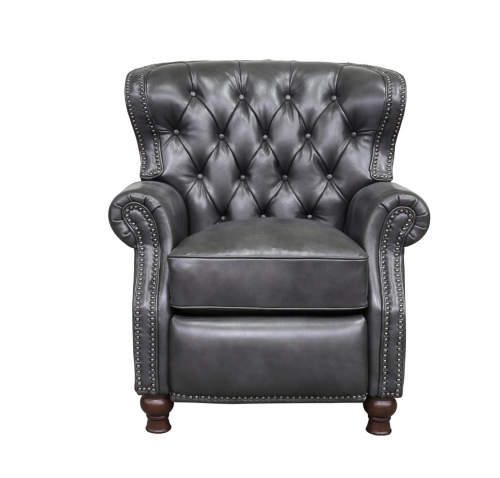 Presidential Recliner Chair - Wrenn Gray/all leather