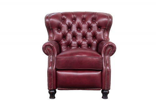 Presidential Recliner Chair - Wenlock Carmine/All Leather