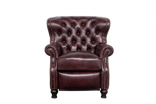 Presidential Recliner Chair - Wenlock Fudge/All Leather
