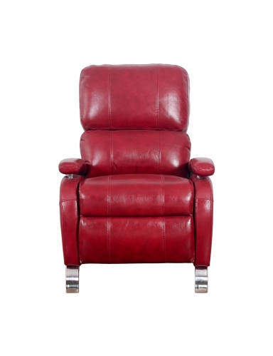 Oracle Recliner Chair - Stargo Red/Leather Match