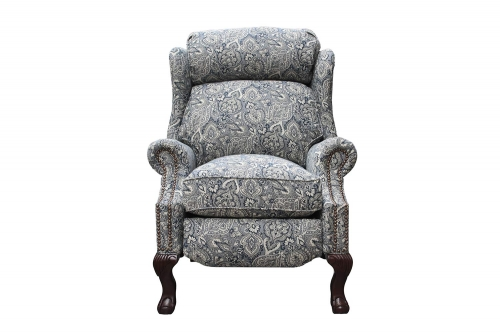 Danbury Recliner Chair - Rustic Cobalt fabric