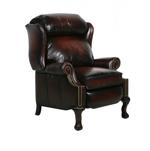 Barcalounger Churchill Recliner Chair - Stetson Bordeaux/All Leather