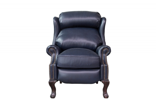 Danbury Recliner Chair - Shoreham Blue/All Leather