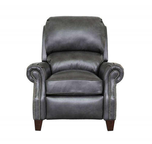 Barcalounger Churchill Recliner Chair - Wrenn Gray/all leather