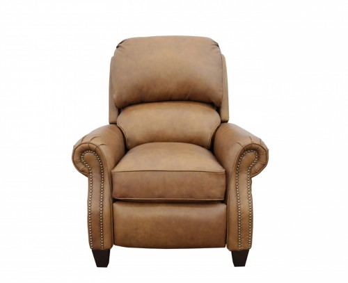 Churchill Recliner Chair - Rustic Bourbon/All Top Rain Leather