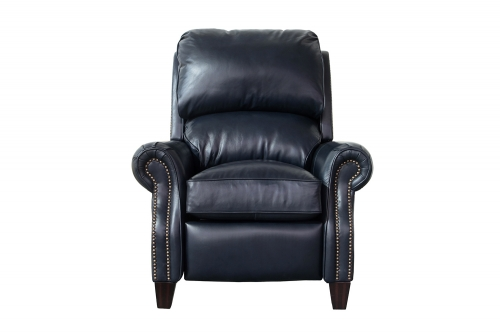 Barcalounger Churchill Recliner Chair - Shoreham Blue/All Leather