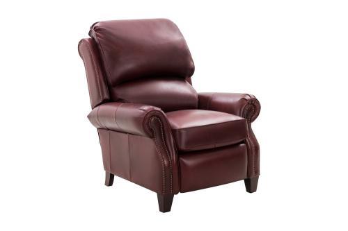 Churchill Recliner Chair - Emerson Sangria/Top Grain Leather