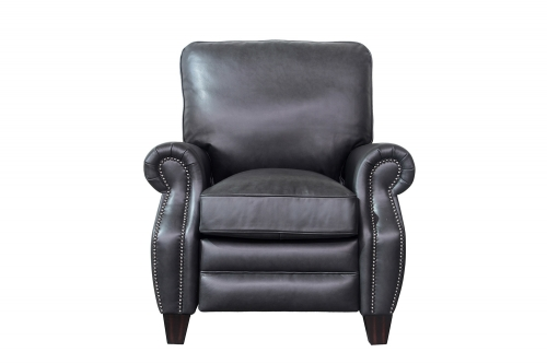 Barcalounger Briarwood Recliner Chair - Shoreham Gray/All Leather