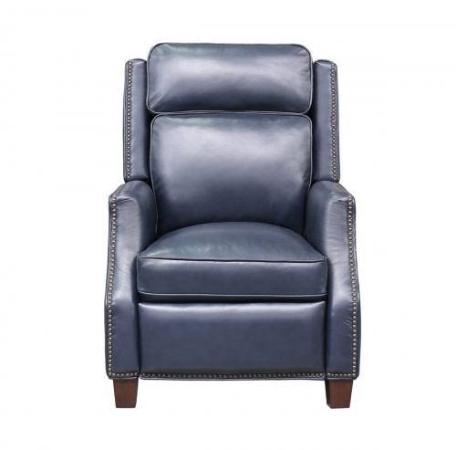 Van Buren Recliner Chair - Shoreham Blue/all leather
