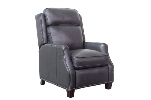 Barcalounger Van Buren Recliner Chair - Shoreham Gray/All Leather