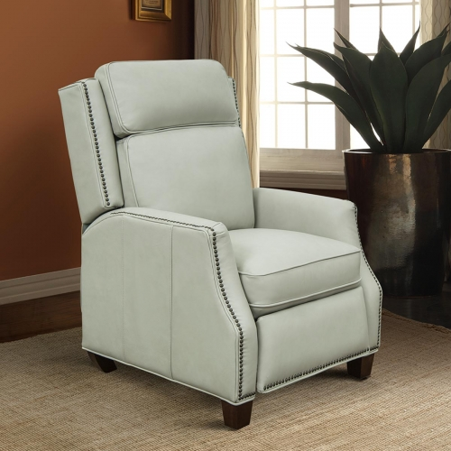 Barcalounger Van Buren Recliner Chair - Wenlock Dove/all leather