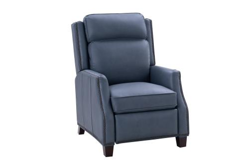 Barcalounger Van Buren Recliner Chair - Corbett Steel Gray/All Leather